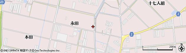 愛知県田原市堀切町(永田)周辺の地図