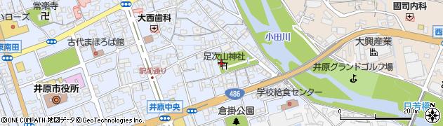 足次山神社周辺の地図