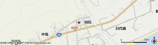 愛知県田原市越戸町(田尻)周辺の地図