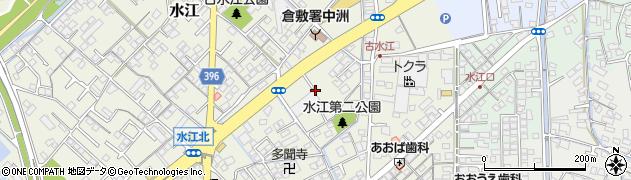 岡山県倉敷市水江周辺の地図