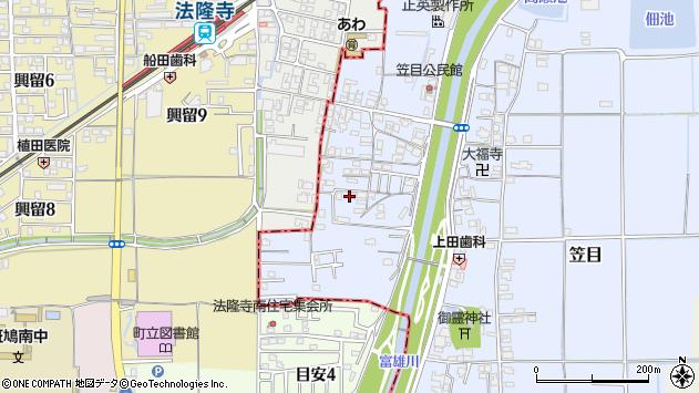〒639-1065 奈良県生駒郡安堵町笠目の地図