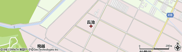 愛知県田原市伊良湖町(長池)周辺の地図