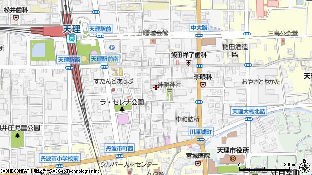〒632-0016 奈良県天理市川原城町の地図