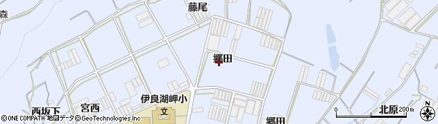 愛知県田原市小塩津町(郷田)周辺の地図