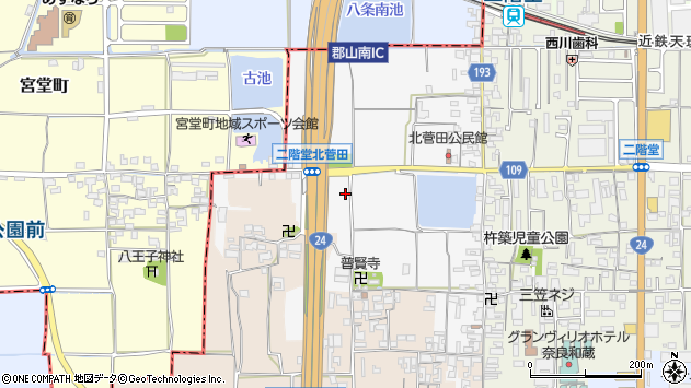 〒632-0088 奈良県天理市二階堂北菅田町の地図