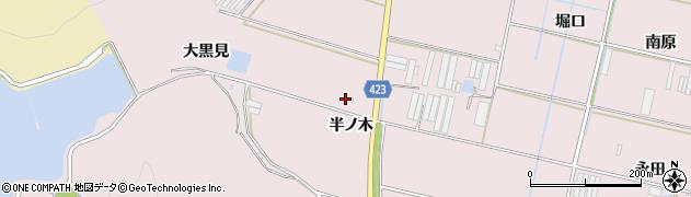 愛知県田原市堀切町(半ノ木)周辺の地図
