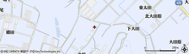 愛知県田原市和地町(北原)周辺の地図