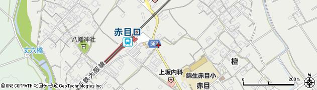 第三銀行赤目支店周辺の地図