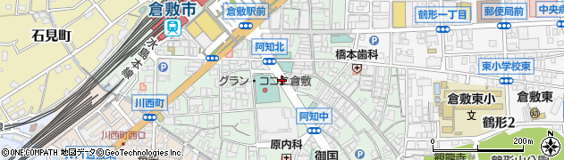 岡山県倉敷市阿知周辺の地図