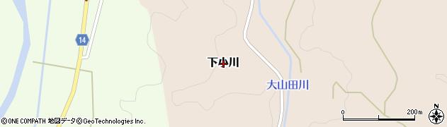 山口県萩市下小川周辺の地図