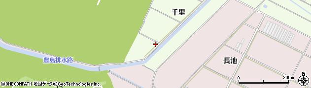 愛知県田原市西山町(千里)周辺の地図