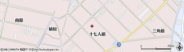 愛知県田原市堀切町(十七人組)周辺の地図