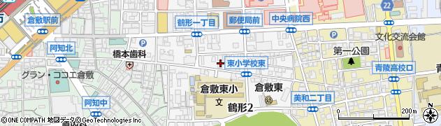 岡山県倉敷市鶴形周辺の地図