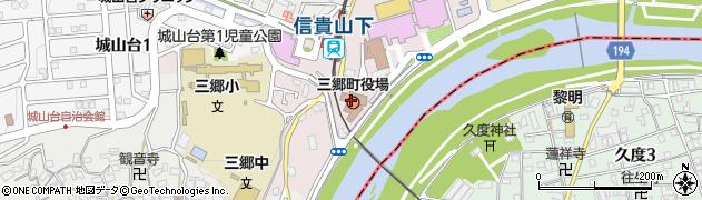 奈良県三郷町(生駒郡)周辺の地図