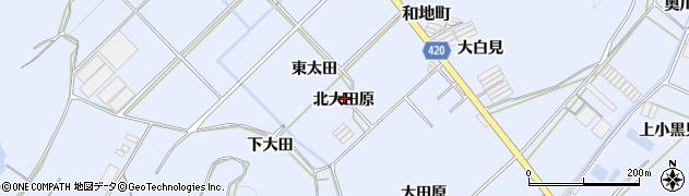 愛知県田原市和地町(北大田原)周辺の地図