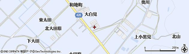 愛知県田原市和地町(大白見)周辺の地図