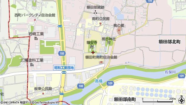 〒639-1036 奈良県大和郡山市額田部寺町の地図