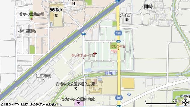 〒639-1063 奈良県生駒郡安堵町かしの木台の地図