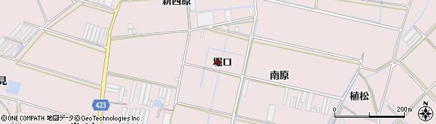 愛知県田原市堀切町(堀口)周辺の地図
