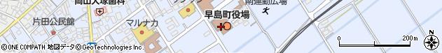 岡山県都窪郡早島町周辺の地図