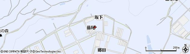 愛知県田原市小塩津町(藤尾)周辺の地図