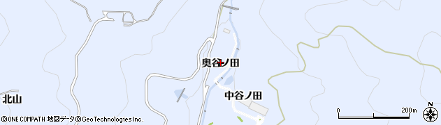 愛知県田原市和地町(奥谷ノ田)周辺の地図