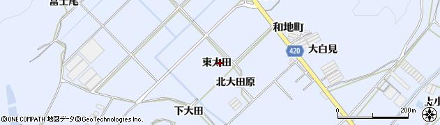 愛知県田原市和地町(東太田)周辺の地図