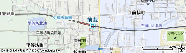 奈良県天理市周辺の地図