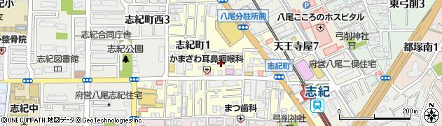 大阪府八尾市志紀町周辺の地図