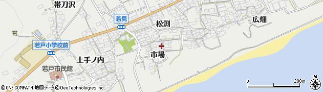 愛知県田原市若見町(市場)周辺の地図