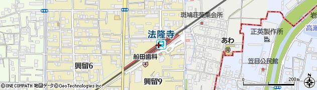 奈良県生駒郡斑鳩町周辺の地図