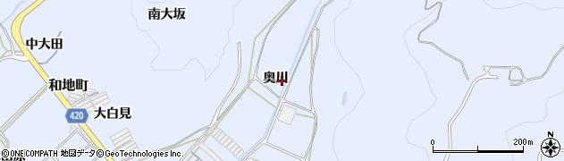 愛知県田原市和地町(奥川)周辺の地図