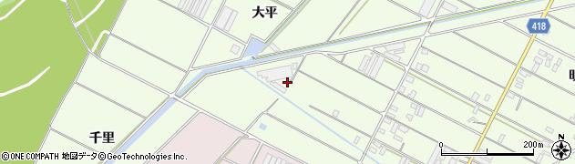 愛知県田原市西山町(大平)周辺の地図