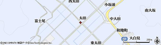 愛知県田原市和地町(太田)周辺の地図