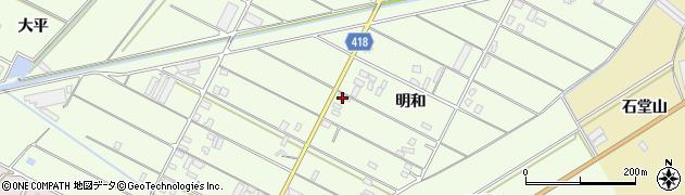 愛知県田原市西山町(明和)周辺の地図