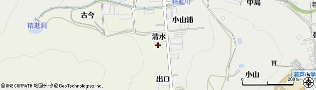 愛知県田原市越戸町(清水)周辺の地図