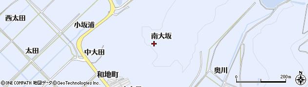 愛知県田原市和地町(南大坂)周辺の地図