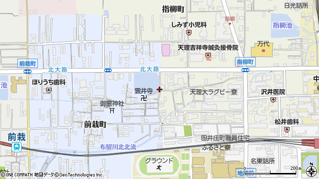 〒632-0094 奈良県天理市前栽町の地図