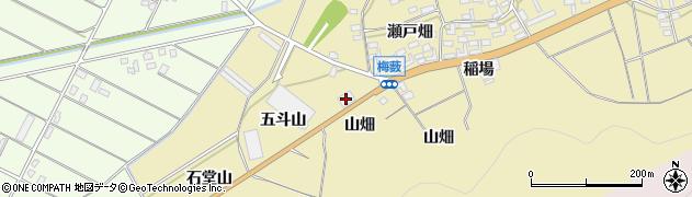 愛知県田原市亀山町(山畑)周辺の地図