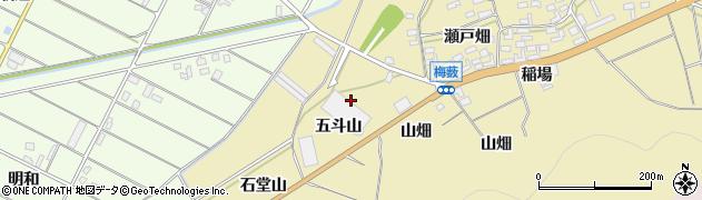 愛知県田原市亀山町(五斗山)周辺の地図