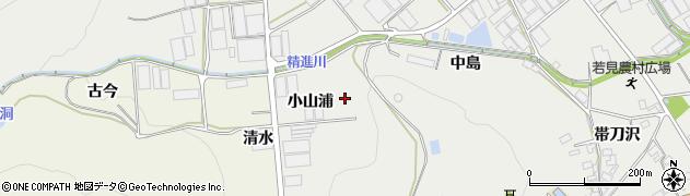 愛知県田原市若見町(小山浦)周辺の地図