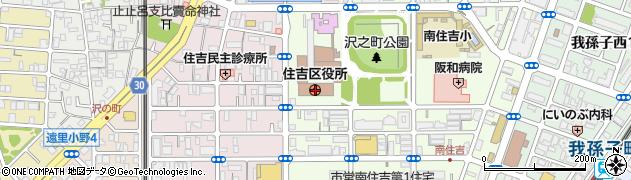 大阪府大阪市住吉区周辺の地図