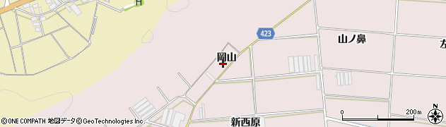 愛知県田原市堀切町(岡山)周辺の地図