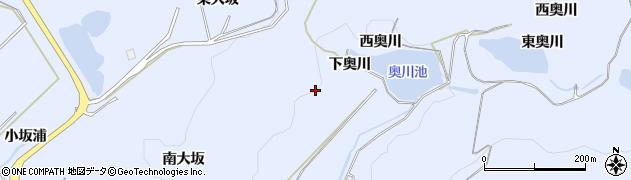 愛知県田原市和地町(下奥川)周辺の地図