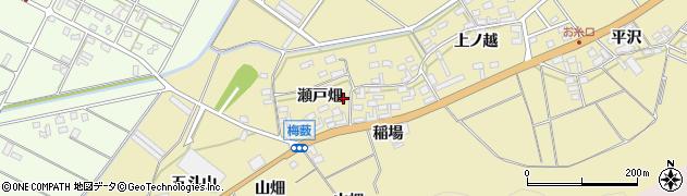 愛知県田原市亀山町(瀬戸畑)周辺の地図
