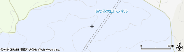 あつみ大山トンネル周辺の地図