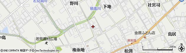 愛知県田原市若見町(下地)周辺の地図
