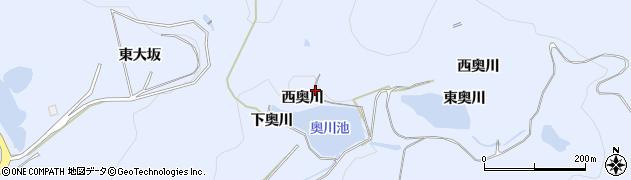 愛知県田原市和地町(西奥川)周辺の地図