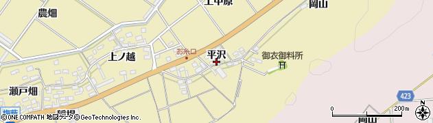 愛知県田原市亀山町(平沢)周辺の地図