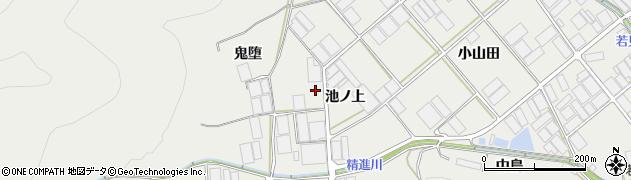 愛知県田原市若見町(池ノ上)周辺の地図